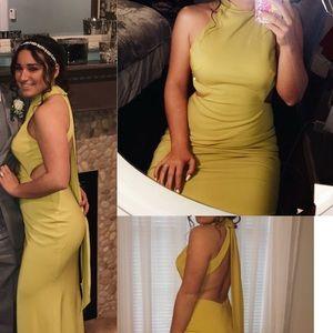 Ieena from Mac Duggal Chartreuse prom dress